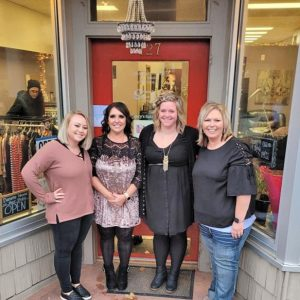 FOUR NEW businesses, located in the former Lice Avengers' building, have opened in Glenwood City. The owners, pictured from left to right are, Danielle Hovde (Danielle Hovde Hair Studio), Carrie Steger (Fancy's Salon and Spa), Amanda Schone (57 Hills Salon & Boutique), and Jamey Tuttle (Serenity Care Agency & Serenity Enterprises). —photo submitted