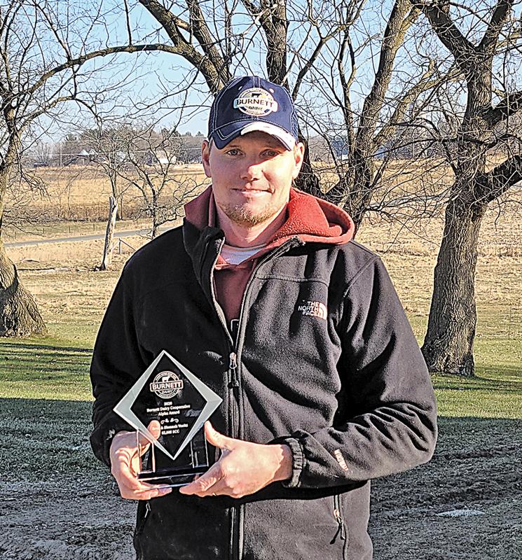 Brad Voeltz Farm receives Alpha Award from Burnett Dairy Co-op