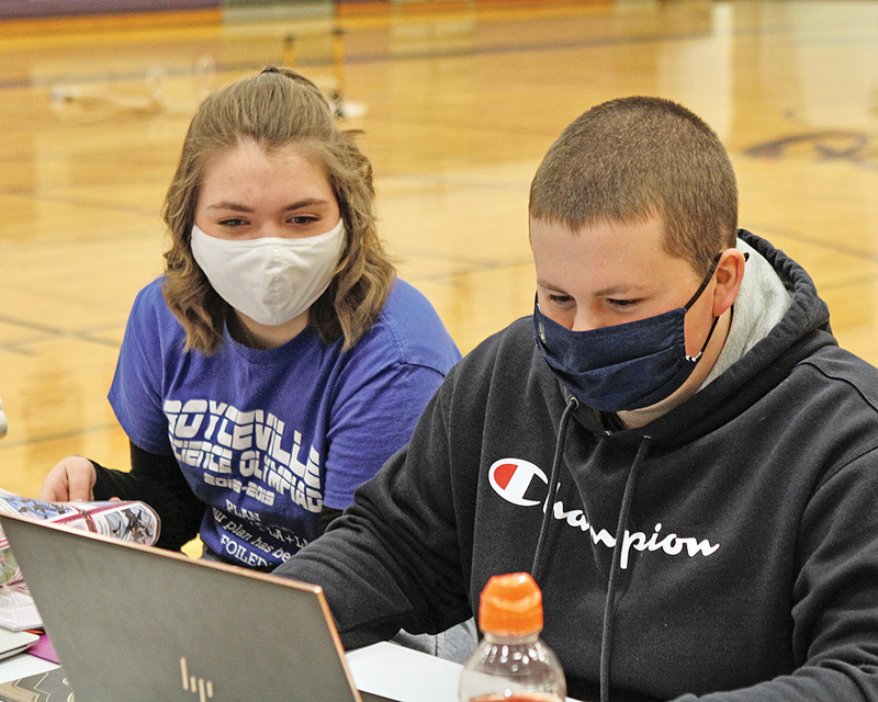 BV Science Olympiad Grace Ehlund and Brady Hellendrung