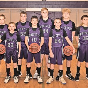 BV 7th Grade Boys Basketball team photo