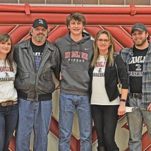 Caden Erickson and family