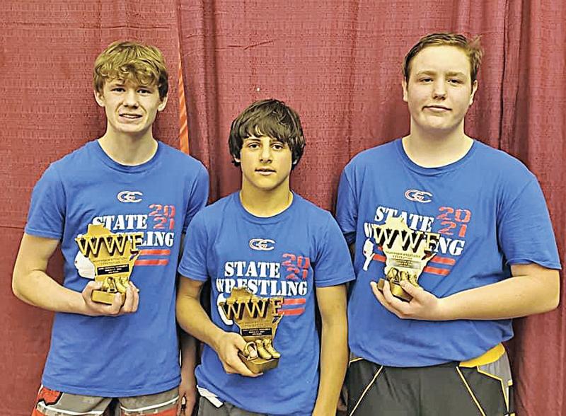 Andrew Blaser, Mitchell McGee, and Blake Fayerweather