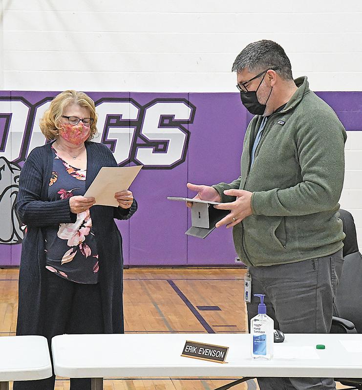 Boyceville school board member Erik Evenson oath of office