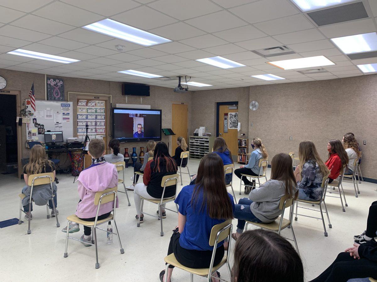 GC students during virtual masterclass
