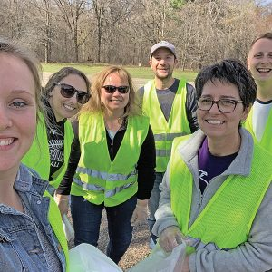 BOYCEVILLE School staff picked up trash on Earth Day