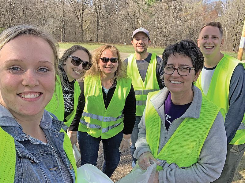 BOYCEVILLE School staff picked up trash on Earth Day