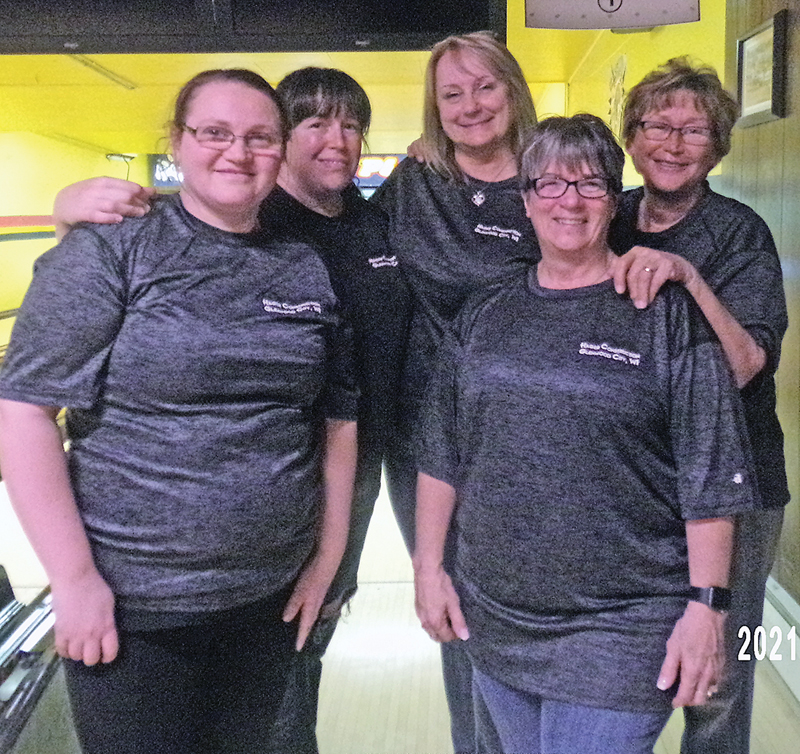 THURSDAY NIGHT LADIES CHAMPIONS — Hager Construction to the championship. Pictured are: Jessica Hager, Tauna Quinn, Carey Casey, Viv Lindstrom, and Cheryl Standaert. —photo submitted