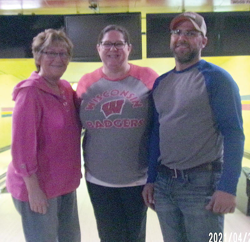 TOWN & COUNTRY CHAMPS Melby's are pictured above: Cheryl Standaert, Angela and Ben McGee. —photo submitted