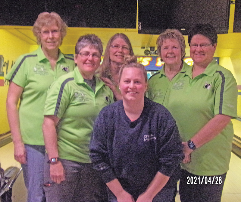 Wednesday Nite Ladies Champs was the ChiroCar team. Pictrued are: Kathy Alleman, Lisa Schone, Cindy Rasbach, Ione DeSmith, Lori Klinger, and Rachel Rasbach. —photo submitted