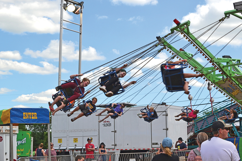 FUNNEL FORCE — Visitors at the Colfax Free Fair enjoyed the Funnel Force ride. — Photo by LeAnn R. Ralph