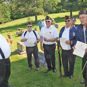 Honored for 50 years of Service of the Legion