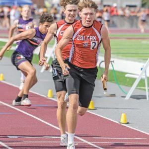Colfax State Track Max Knudson and Ryan Albricht