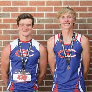 Division 3 state track and field Will Eggert and Austin Nelson