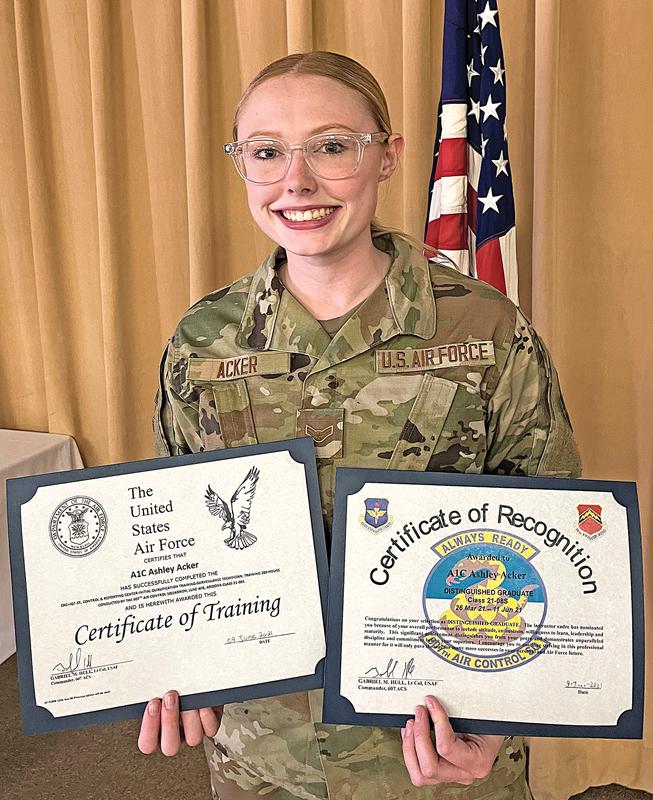 Ashley Acker received the Distinguished Graduate Award