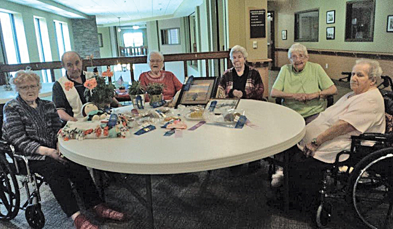 Glenhaven was well represented at the Senior Citizen building at the fair. Olga, Dave, Betty, Ruth and Bev all had a hand in the baking and some of their own personal items. —photo submitted