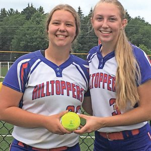 GLENWOOD CITY GRADUATES Delanie Fayerweather (left) and Maddie Oehlke played in the WFSCA annual All-Star Softball game played July 13 in Wisconsin Dells. —photo submitted