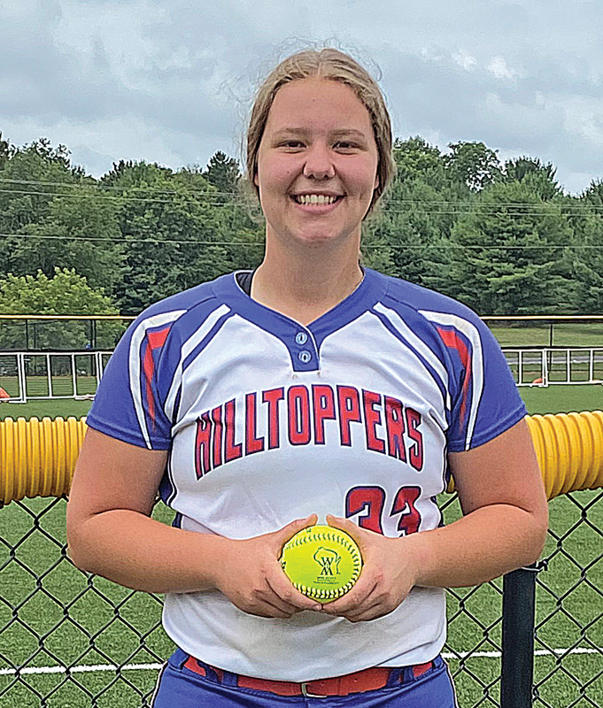 THE TOPPERS' Delanie Fayerweather was named the Wisconsin Fastpitch Softball Coaches Association's 2021 Division 4 Player of the Year. — photo submitted