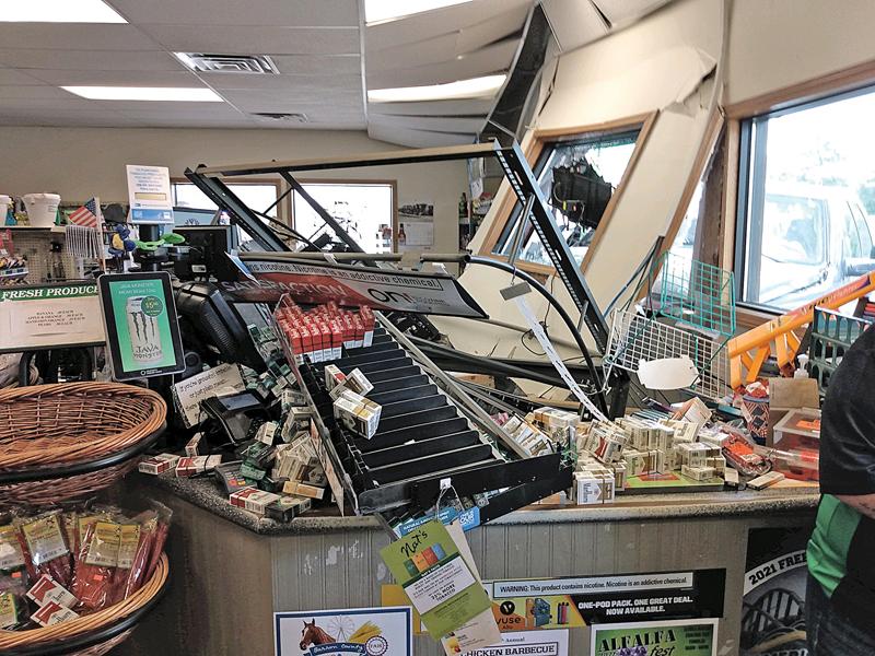 damage at Bridge Stop Convenience Store