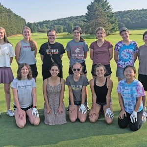 THE 2021 Colfax/Elk Mound Girls' Golf Team is pictured above. Front row (L to R): Emma Bruder, Brynna Streifel, Ella Reese, Anne Baier and LeeDa Yang. Back row (L to R): Emma Nechanicky, Olivia Schindler, Olivia Clickner, Josie Seehaver, Grace Shafer, Abigail Werner and Selena Clickner. Missing is Elizabeth Wisemiller. —photo submitted