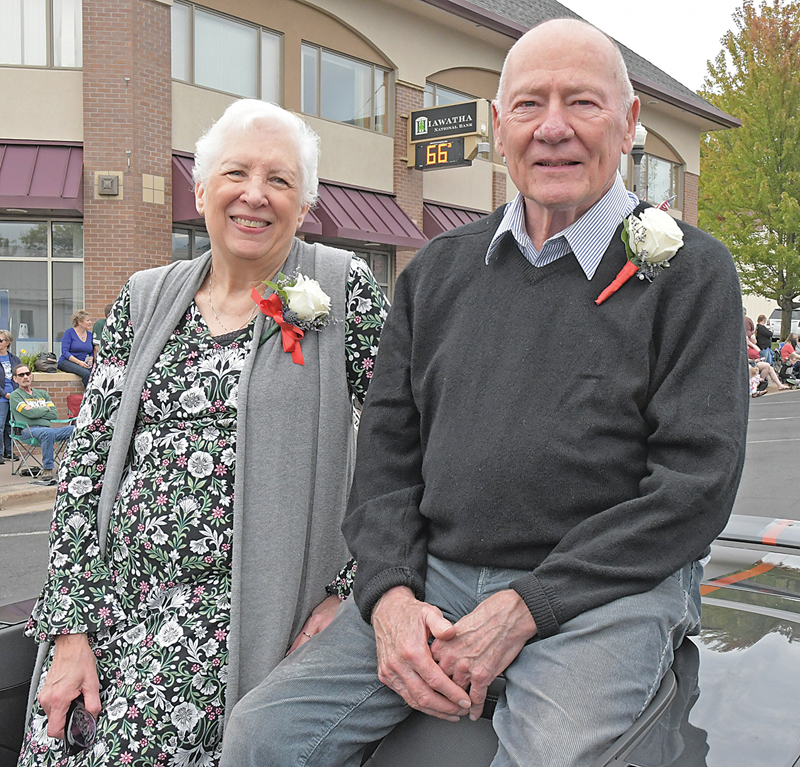 2020 Rustic Lore Days Grand Marshals Judy and Julian Bender were honored with a ride through this year's parade on Sunday, September 11. The were recognized after COVID cancelled last year's celebration. —photo by Shawn DeWitt