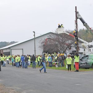 Build My Future Wisconsin held in Glenwood City on October 6 gave high school students the opportunity to spend a day learning about the Construction Industry. Here a large number of students gather at the county fairgrounds.