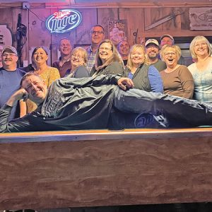 the GCHS Class of 1986 celebrated their 35th class reunion on Saturday, October 16 at the Pump House in Downing. Those is attendance were in front, Wayne Moe. Second row (L to R): Jamie Anderson, Steve Booth, Paula (Dyer) Chernyshov, Tracy (Albright) West, Carrie (Jacobs) Stamp, Becky (Warner) Bridges, Mary (Peterson) Lieffring, Dawn (Harmer) Totske, and Scott Schmidt. Back row (L to R): Ron Jasperson, Todd Jilek, Scott Gruel, Brian Anderson, Tom Hess, Donan Wink, Jesse Quinn, Daryl Simonson, and Nate Kuehndorf. Gone but never forgotten! Carra Lingerfelt, Joe Obermueller, Dennis Harp, Jill DeSmith, Sean Smith, and Kevin Bonte. —photo submitted