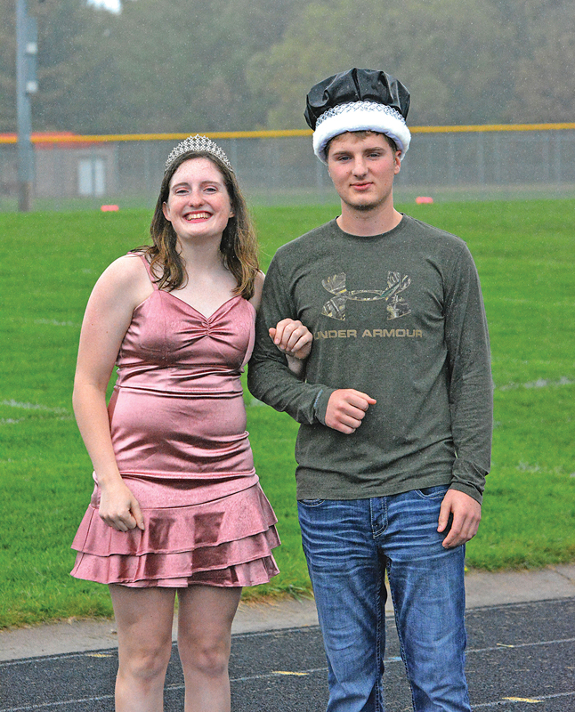 2021 COLFAX Homecoming Queen Emilee Burcham-Scofield (left) and King Taylor Risler. —photo by Rich Meredith