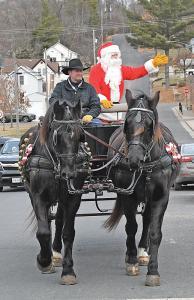 Santa in GC Main Street
